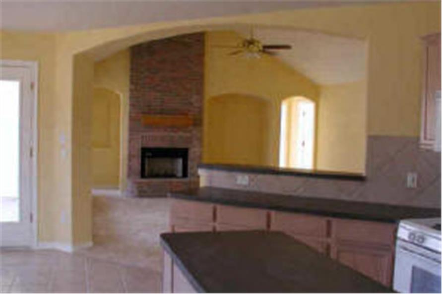 136-1005 house plan kitchen