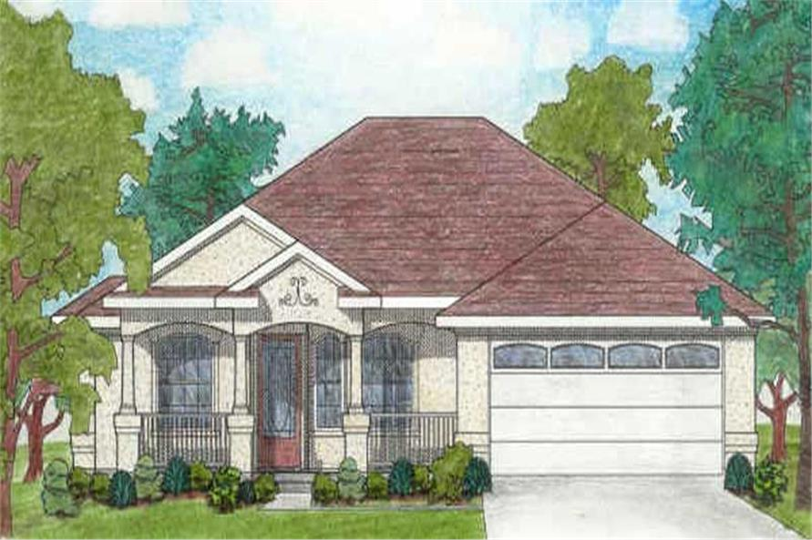Main image for house plan # 136-1017