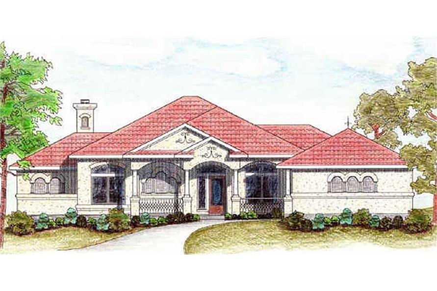 136-1018: Home Plan Rendering