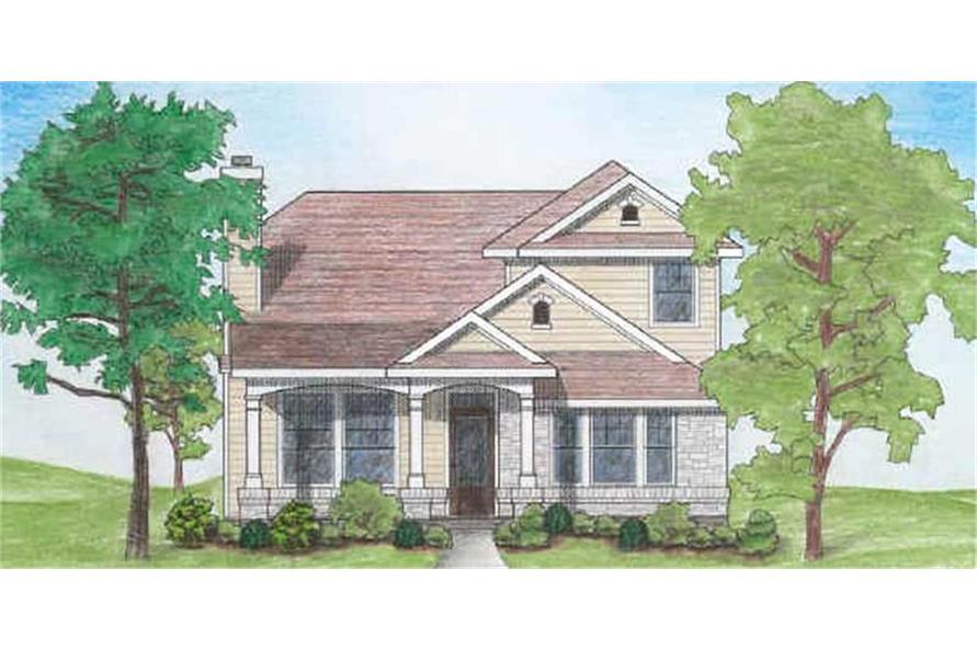 136-1020: Home Plan Rendering