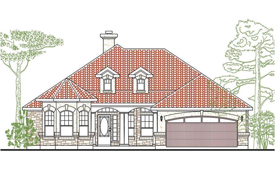 136-1027: Home Plan Rendering