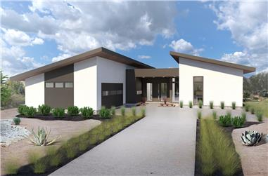 3-Bedroom, 2002 Sq Ft Contemporary Home - Plan #136-1036 - Main Exterior
