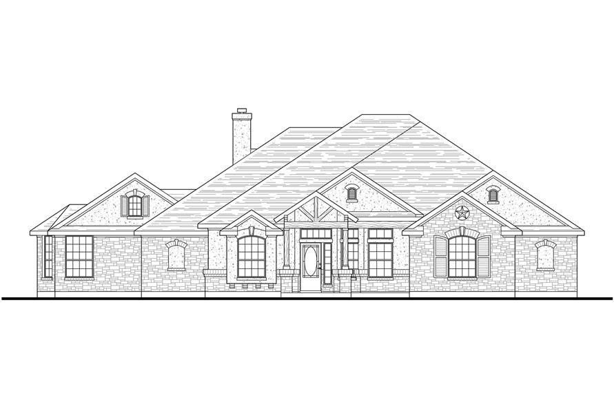 136-1037: Home Plan Front Elevation