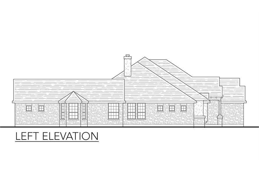 136-1037: Home Plan Left Elevation