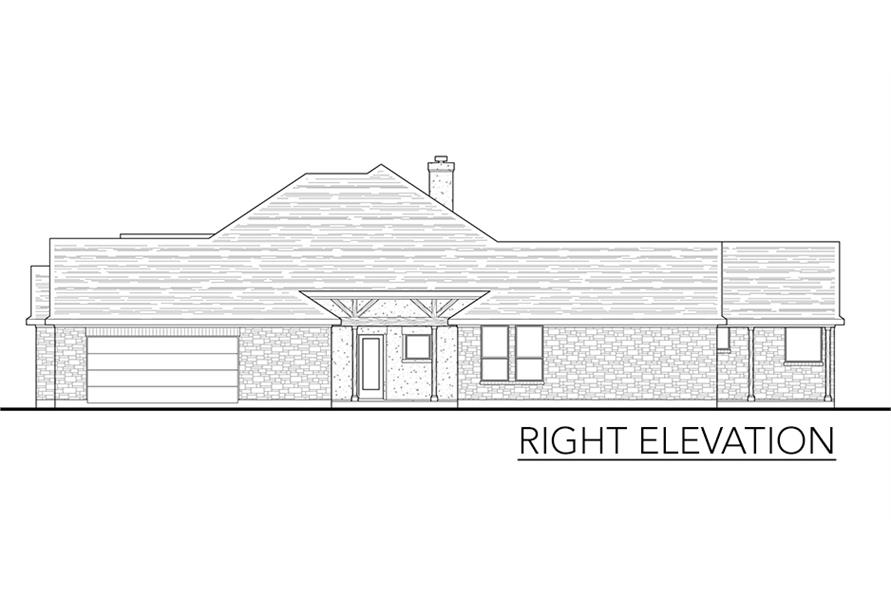 136-1037: Home Plan Right Elevation