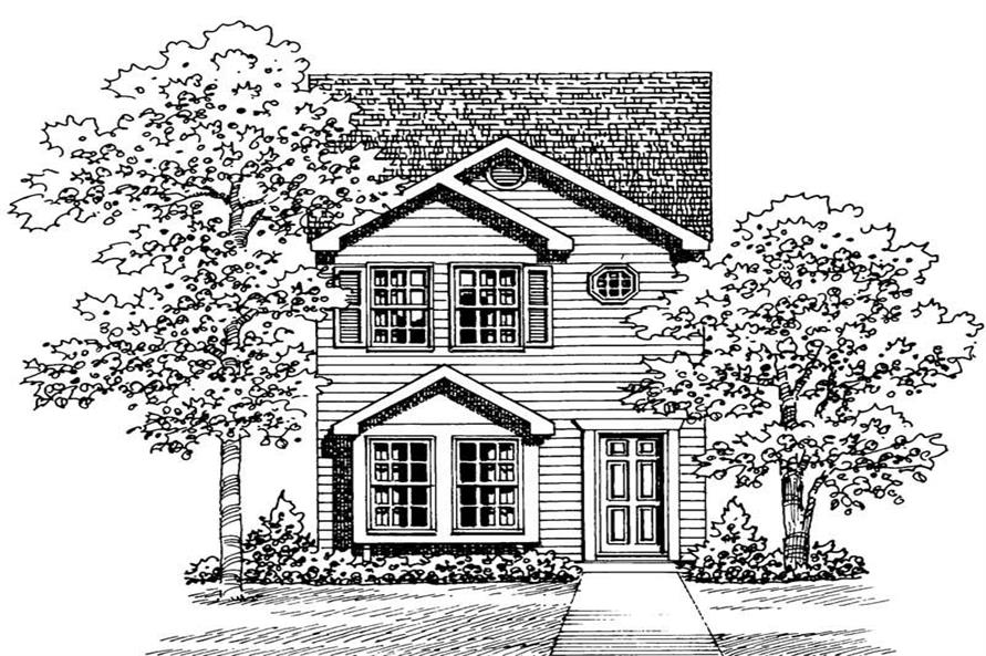 Main image for house plan # 18004