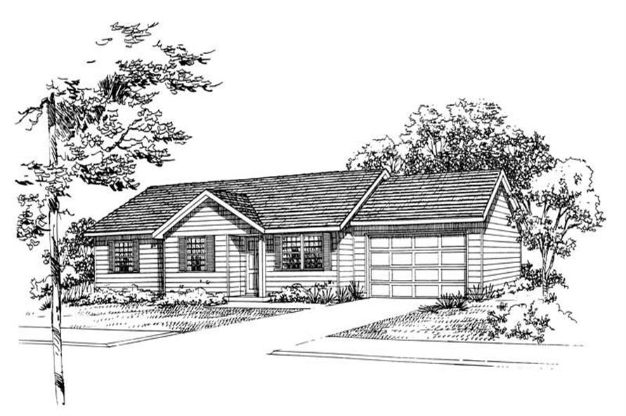 Main image for house plan # 18009