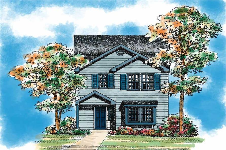 Main image for house plan # 18002