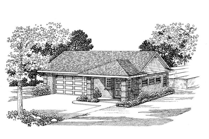 Main image for house plan # 18827