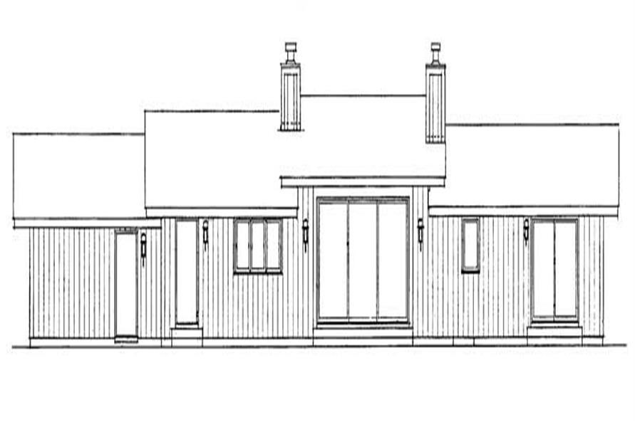 House Plan HW-2818 Rear Elevation