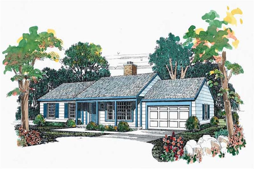 Main image for house plan # 17250