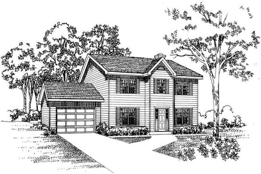 Main image for house plan # 18007