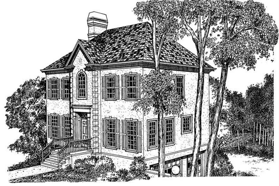 Main image for house plan # 17954