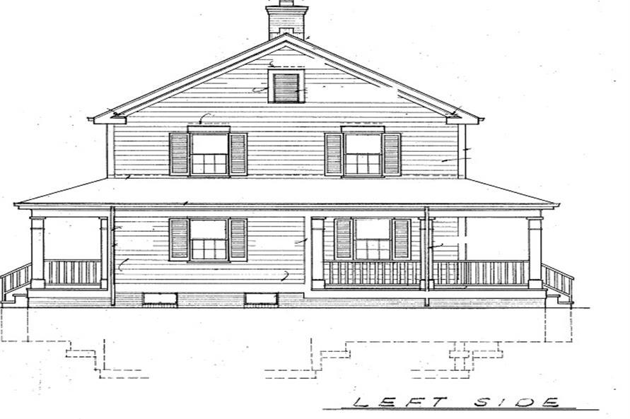 137-1360: Home Plan Left Elevation