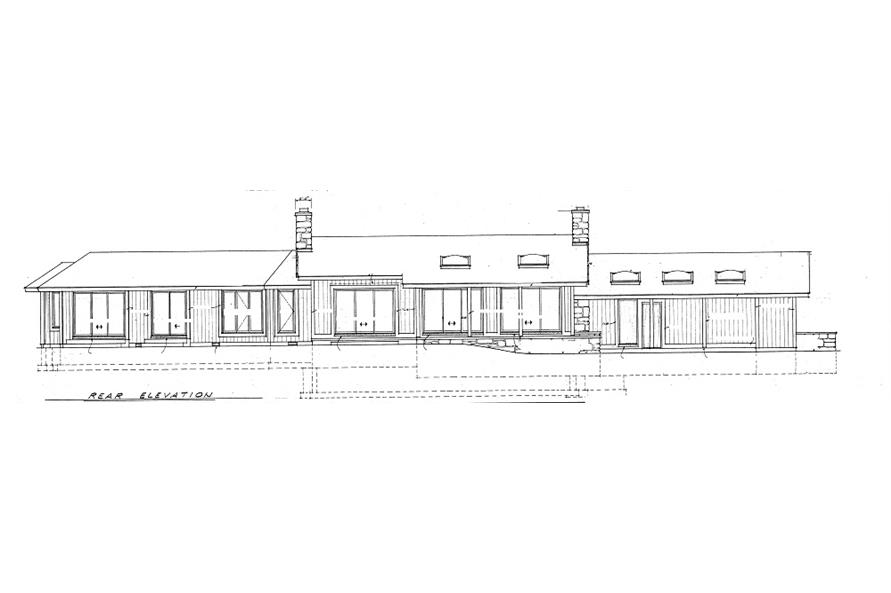 137-1630: Home Plan Rear Elevation