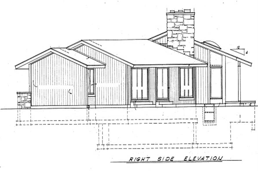 137-1630: Home Plan Right Elevation