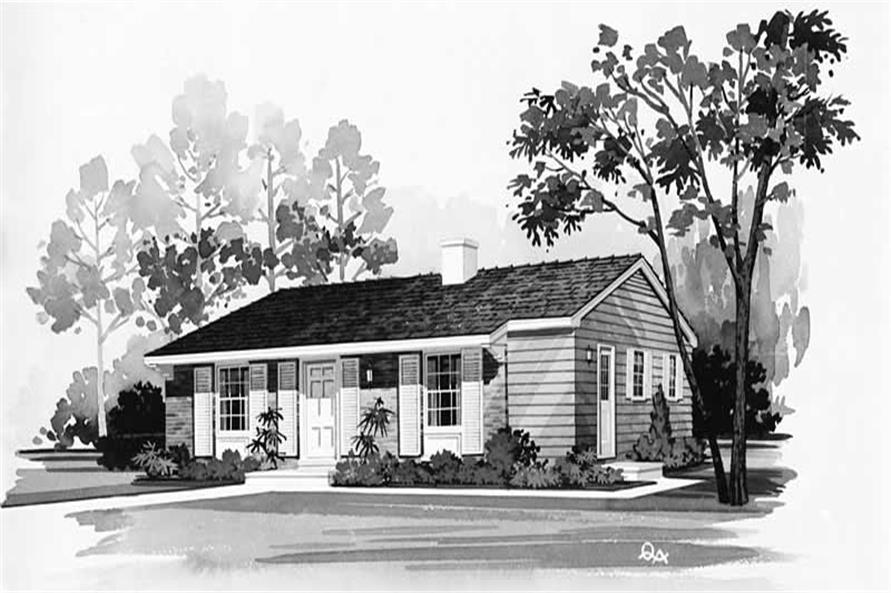 Main image for house plan # 17411