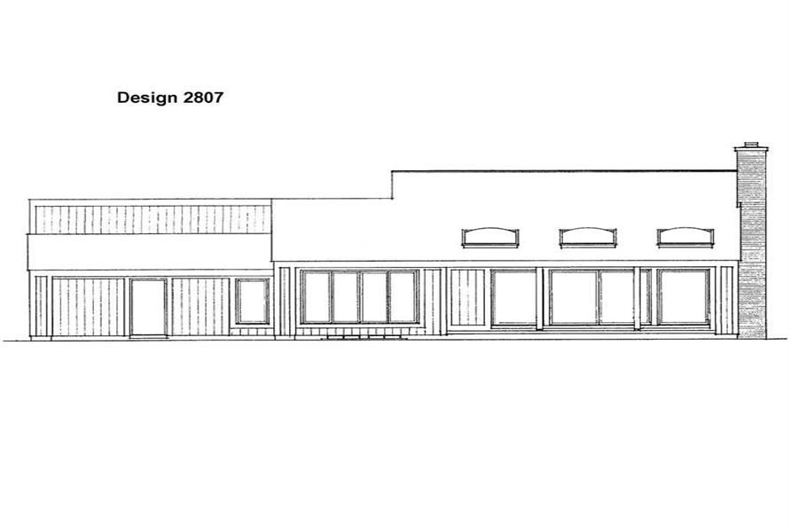 House Plan HW-2807 Rear Elevation