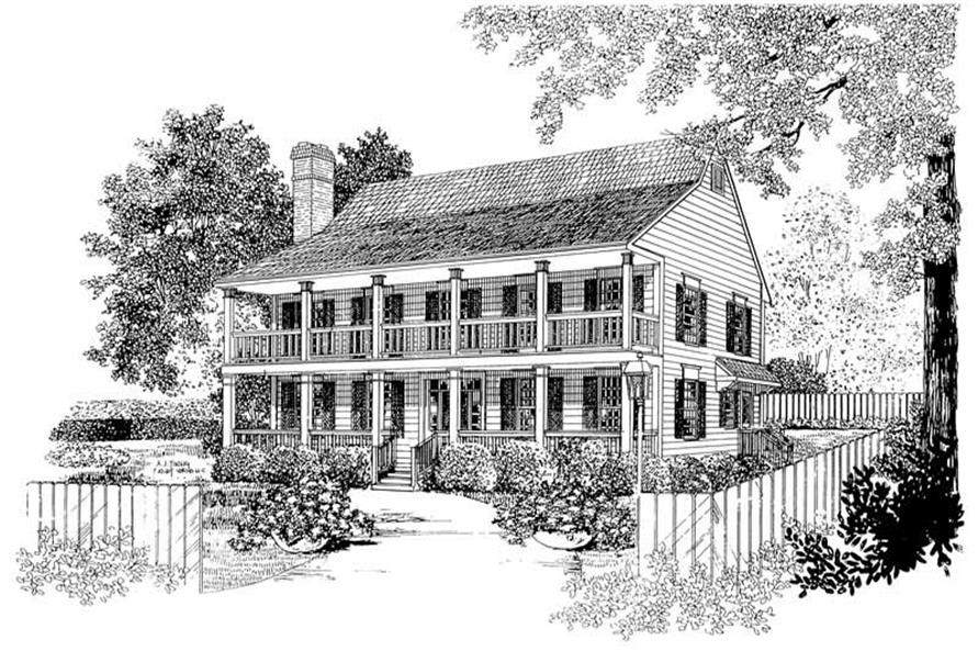 Main image for house plan # 17584