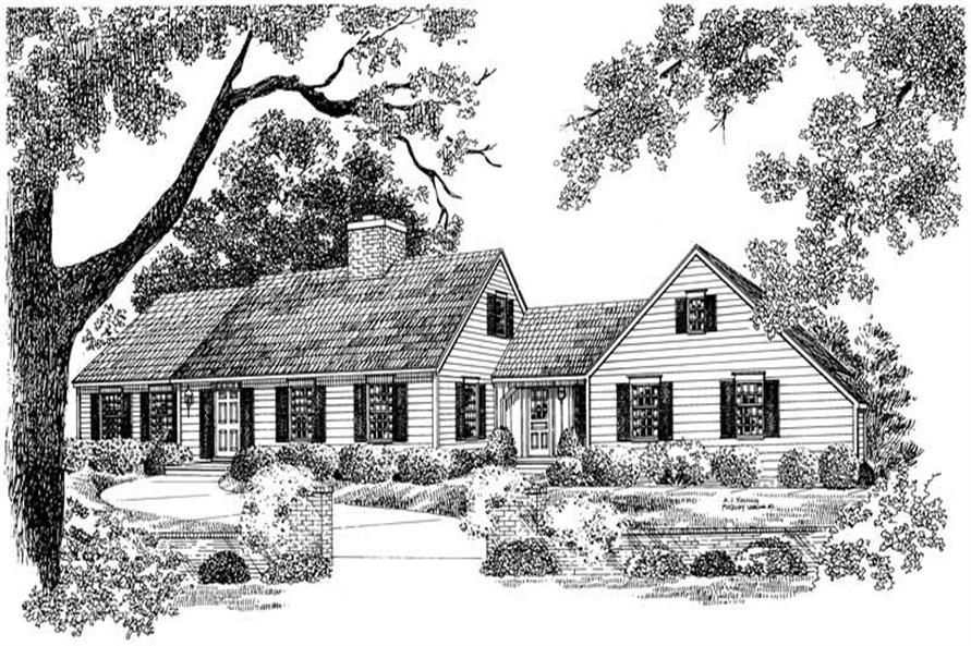 Main image for house plan # 17438