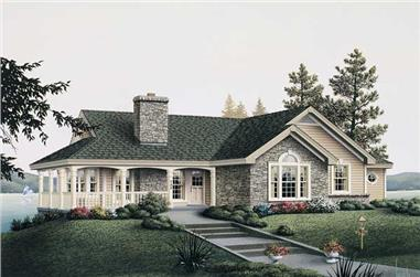 2-Bedroom, 1922 Sq Ft Country Home - Plan #138-1003 - Main Exterior