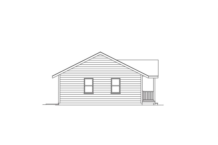 138-1011: Home Plan Left Elevation
