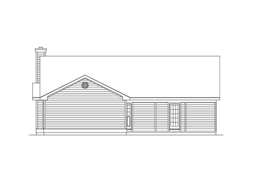 138-1014: Home Plan Rear Elevation