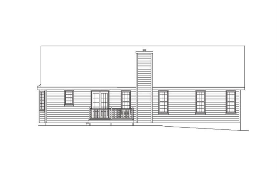 138-1026: Home Plan Rear Elevation