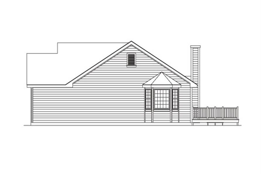 138-1026: Home Plan Right Elevation