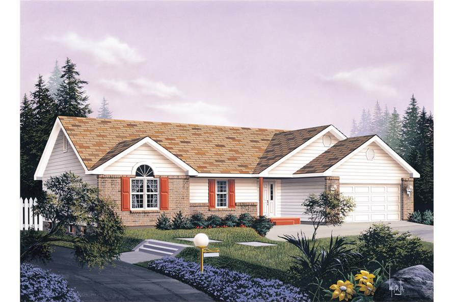 Front elevation of Traditional home (ThePlanCollection: House Plan #138-1026)