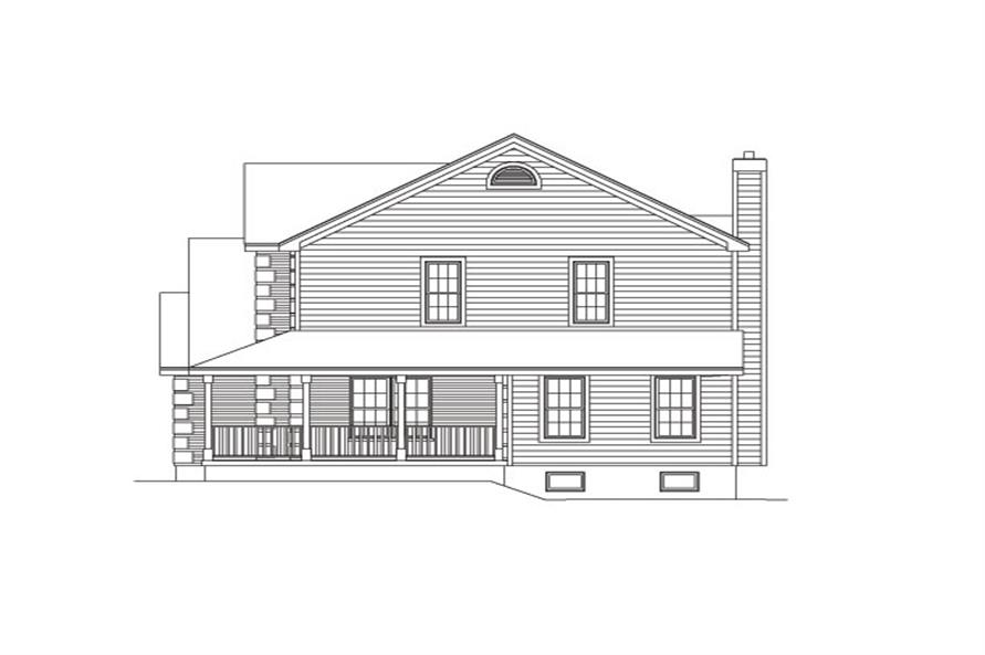 138-1028: Home Plan Right Elevation