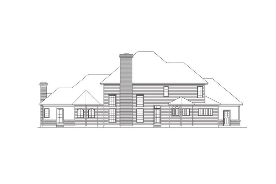 138-1030: Home Plan Rear Elevation
