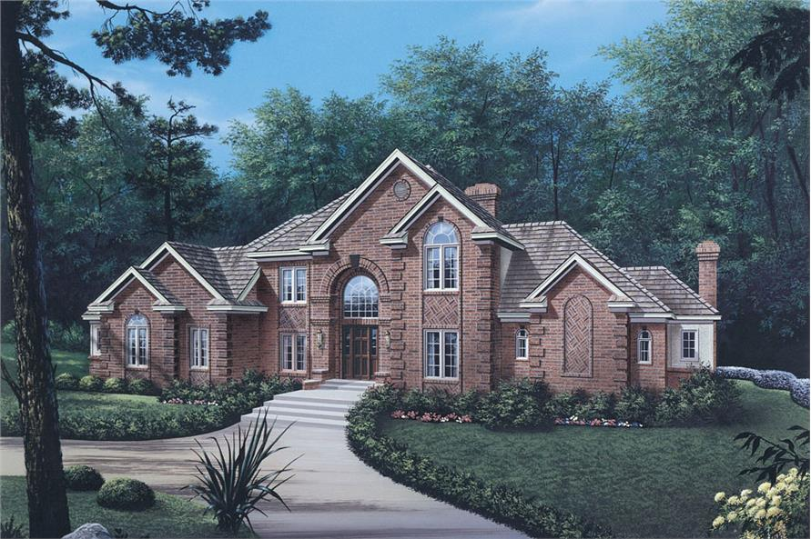 Front elevation of Traditional home (ThePlanCollection: House Plan #138-1030)