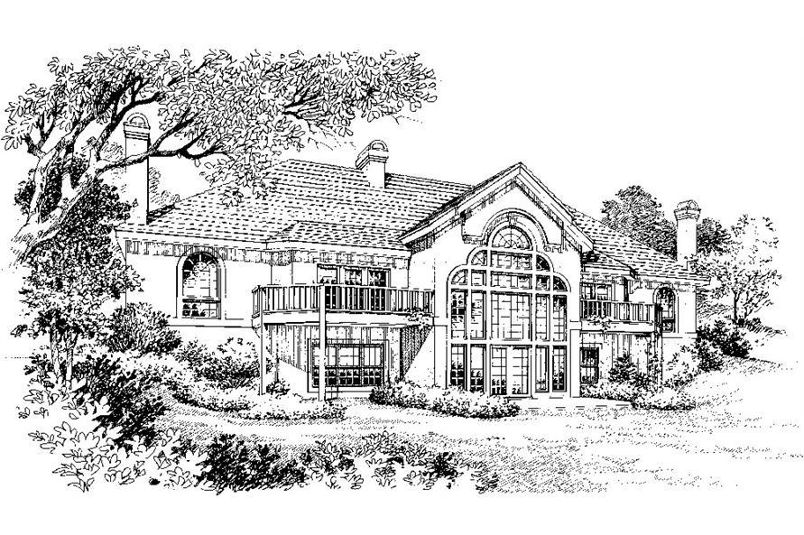 138-1033: Home Plan Rendering