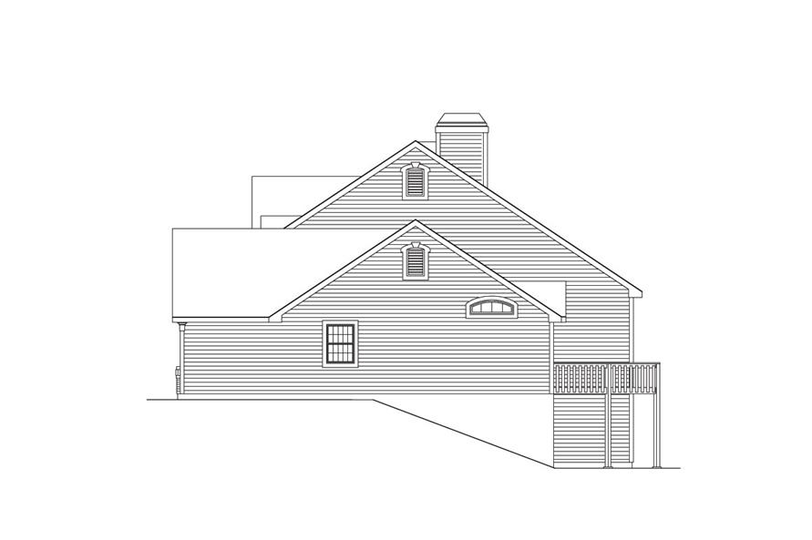 138-1034: Home Plan Right Elevation