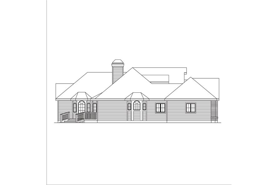 138-1039: Home Plan Left Elevation