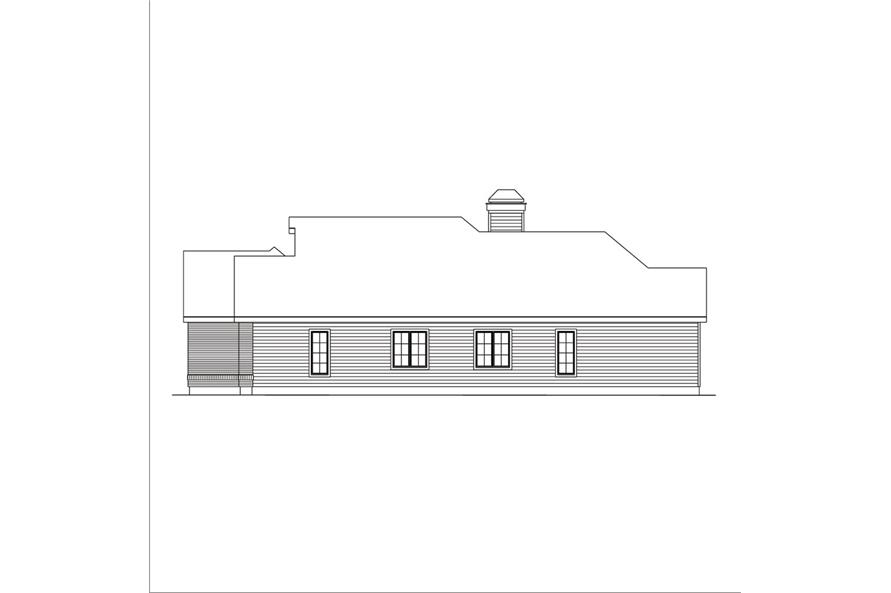 138-1039: Home Plan Right Elevation