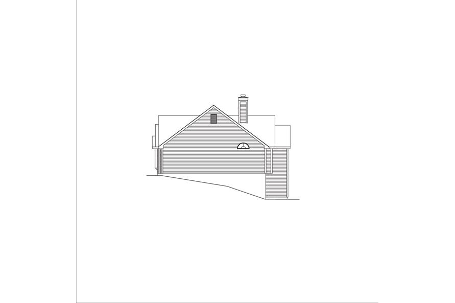 138-1041: Home Plan Right Elevation