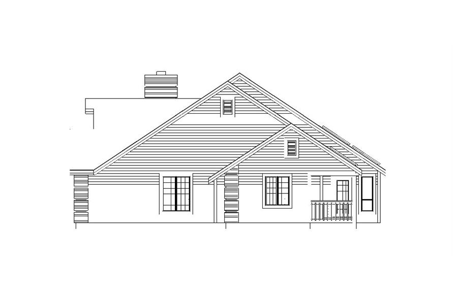 138-1043: Home Plan Right Elevation