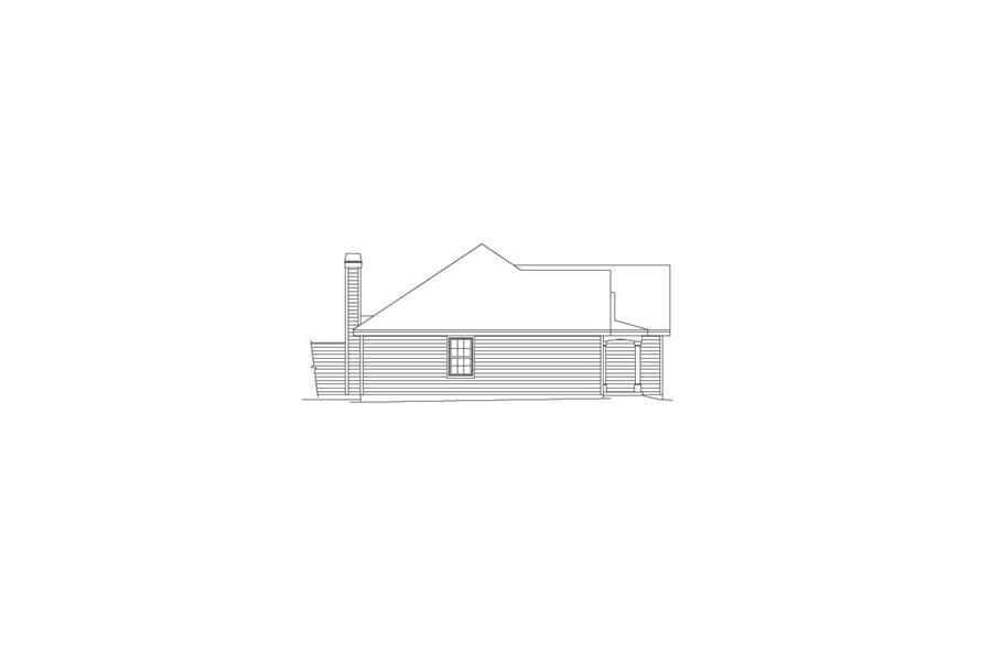 138-1051: Home Plan Left Elevation