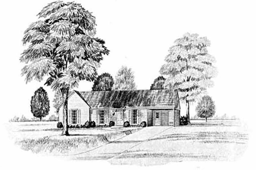 Main image for house plan # 8013