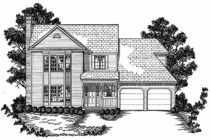 Main image for house plan # 7995