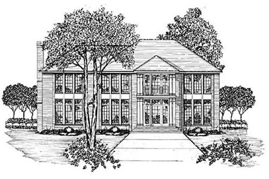 Main image for house plan # 7909