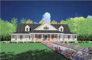 4-Bedroom, 3388 Sq Ft Country Home Plan - 139-1089 - Main Exterior