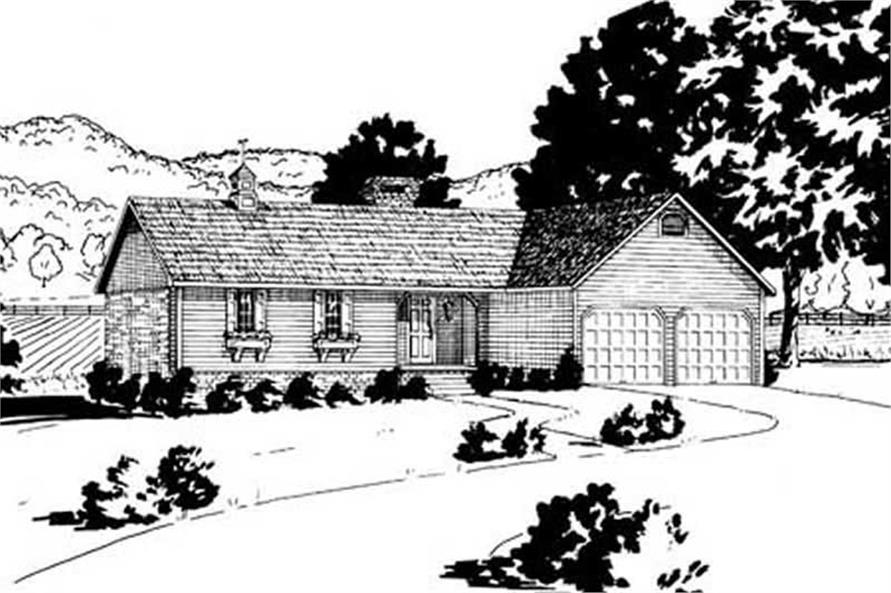 Main image for house plan # 8033