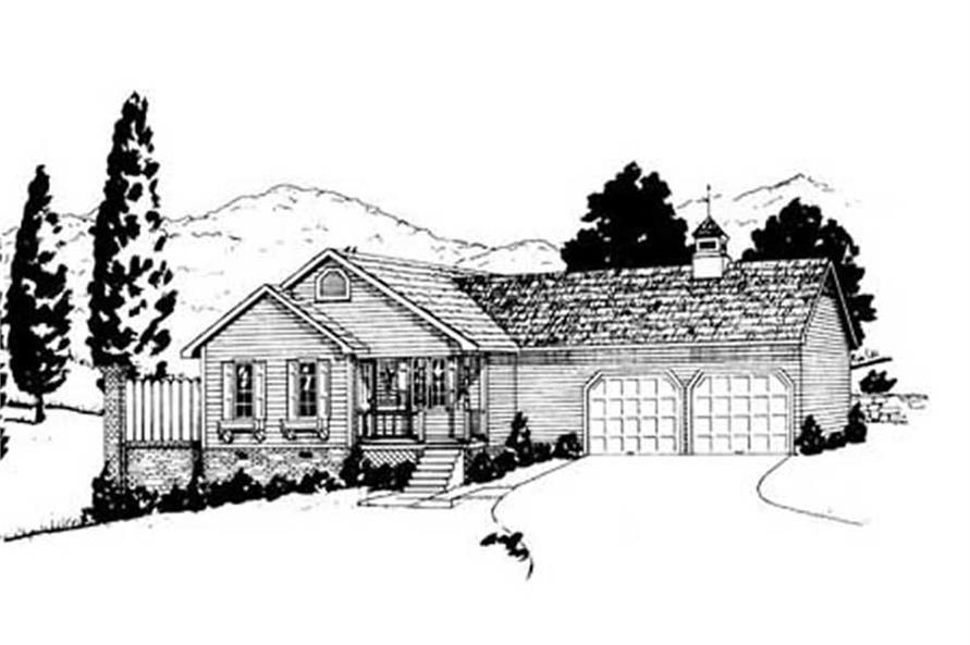 Main image for house plan # 8023