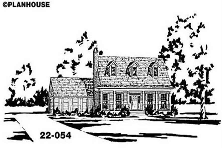 Main image for house plan # 7980
