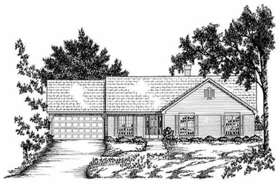 Main image for house plan # 8009