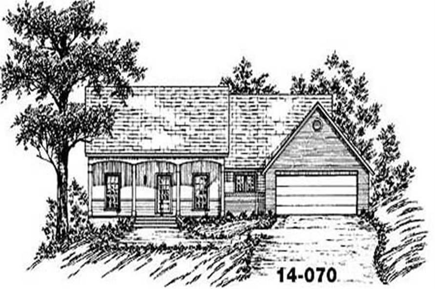 Main image for house plan # 8058