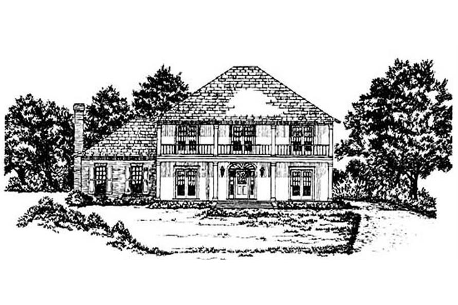 Main image for house plan # 7933